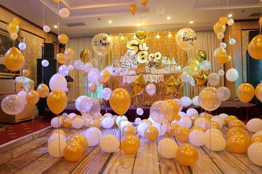 Cách trang trí tiệc sinh nhật trọn gói bằng bóng bay ấn tượng dành cho bé yêu