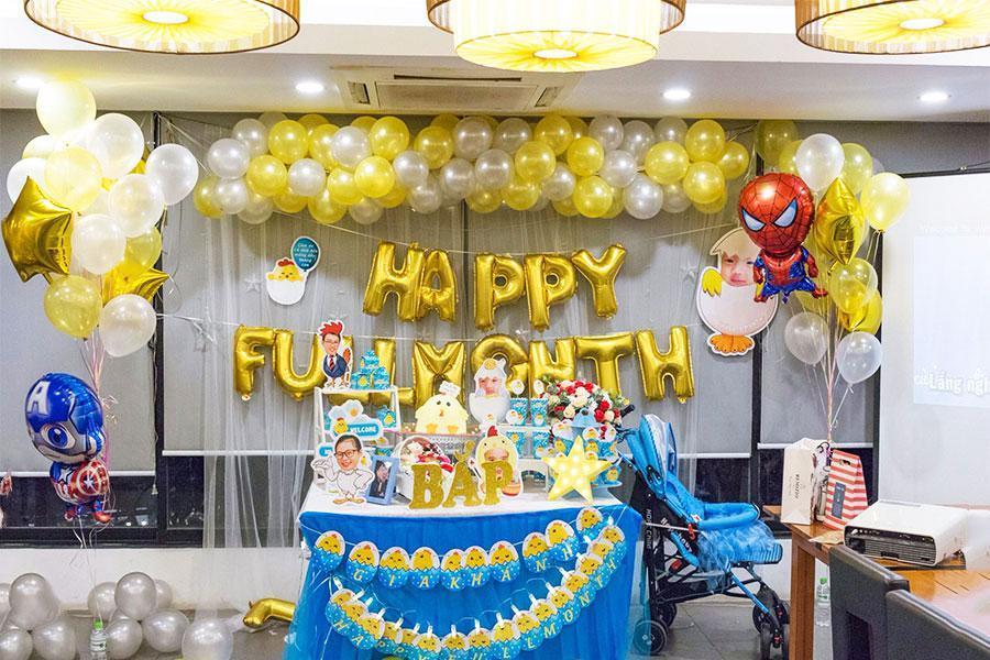 Gợi ý trang trí tiệc đầy tháng thật lung linh dành cho bé